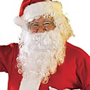 cheap Santa Suits & Christmas Dress-Santa Suit Christmas Party Supplies Adults Men's Halloween Festival / Holiday White+Red Men's Women's Carnival Costumes Solid Colored / Headwear