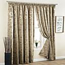 billiga Gardiner och draperier-två paneler gardinland neoklassisk europeisk modern jacquard för vardagsrum