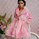 ราคาถูก อุปกรณ์ตุ๊กตา-ชุดตุ๊กตา ปาร์ตี้และมื้อเย็น สำหรับ Barbie ลูกไม้ ผ้าไหมแก้ว Top สำหรับ ของหญิงสาว ของเล่นตุ๊กตา