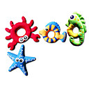 billiga Hundkläder-Mjukdjur Pipande leksaker Hundleksak Husdjur Leksaker 6pcs Fisk Stjärna Textil Present