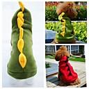 billiga Hundkläder-Katt Hund Dräkter / Kostymer Huvtröjor Outfits Vinter Hundkläder Grön Röd Kostym Polär Ull Djur Cosplay Bröllop Halloween XS S M L XL