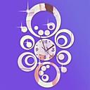 """billiga Speglar Väggklockor-20 """"h modern stil rund cirklar 3d diy akryl spegel vägg klocka"""