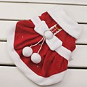 billiga Hundkläder-Katt Hund Dräkter / Kostymer Klänningar Jul Vinter Hundkläder Röd Kostym Cotton Rosett Cosplay Jul Nyår XS S M L XL XXL