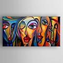 billige Abstrakte malerier-Oljemaleri moderne abstrakt håndmalte lerret med strukket innrammet
