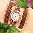 ราคาถูก รองเท้าแตะผู้หญิง-สำหรับผู้หญิง นาฬิกาแฟชั่น นาฬิกาสร้อยข้อมือ นาฬิกาอิเล็กทรอนิกส์ (Quartz) นาฬิกาใส่ลำลอง หนัง วงดนตรี ระบบอนาล็อก โบฮีเมียน ดำ / สีขาว / น้ำตาล - ขาว สีดำ สีน้ำตาล