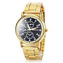 ราคาถูก ตุ้มหู-สำหรับผู้หญิง นาฬิกาอิเล็กทรอนิกส์ (Quartz) สแตนเลส ทอง ระบบอนาล็อก วินเทจ ง่าย / ประจำวัน แฟชั่น - สีดำ สีเขียว ฟ้า