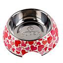 billiga Fiskbeten och flugor-hjärtformade mönster rostfri matskål för husdjur hundar