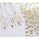 billiga Bergkristall&Dekorationer-24 pcs 3D Nagelstickers nagel konst manikyr Pedikyr Blomma / Bröllop / Mode Dagligen / Plast / 3D Nail Stickers