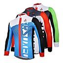 ราคาถูก กางเกงปั่นจักรยาน-Arsuxeo สำหรับผู้ชาย แขนยาว Cycling Jersey สีดำ / สีเขียว ขาว+แดง สีน้ำเงิน+สีดำ จักรยาน เสื้อยืด Tops ระบายอากาศ แห้งเร็ว ออกแบบตามสรีระ กีฬา 100% โพลีเอสเตอร์ ขี่จักรยานปีนเขา Road Cycling