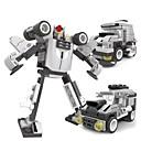 ราคาถูก บล็อกตัวต่อแม่เหล็ก-3 in 1 อาคาร DIY บล็อกอิฐศึกษาของเล่นหุ่นยนต์การเปลี่ยนแปลงรูปแบบการลูกเสือสำหรับเด็ก (91pcs)
