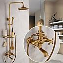 ราคาถูก ก๊อกฝักบัว-ก๊อกน้ำฝักบัว - ของโบราณ ทองเหลือง ระบบฝักบัว Ceramic Valve Bath Shower Mixer Taps / Brass / สองมือจับห้าหลุม