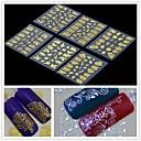 billiga 3D klistermärke-6 pcs 3D Nagelstickers nagel konst manikyr Pedikyr Blomma / Mode Dagligen / 3D Nail Stickers