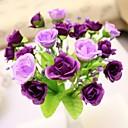 """Χαμηλού Κόστους Ψεύτικα Λουλούδια-7.9 """"l σύνολο από 1 ευγενή 21 κεφαλές πολύχρωμα διαμάντια τριαντάφυλλα λουλούδια μεταξωτά ύφασμα"""
