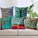 billige Putevar-pakke med 5, land pastoral stil bomull sengetøy dekorative firkant kaste pute dekker sett pute tilfelle for sofa soverom bil