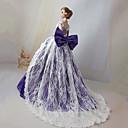 billiga Docktillbehör-Dollklänning För Barbie Ensfärgat Polyester Klänning För Flicka Dockleksak