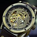 ราคาถูก รองเท้าOxfordสำหรับผู้ชาย-สำหรับผู้ชาย นาฬิกาข้อมือ วิศวกรรมนาฬิกา ไขลานอัตโนมัติ หนัง ดำ / น้ำตาล แกะสลักกลวง ระบบอนาล็อก สีดำ สีน้ำตาล