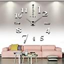 Χαμηλού Κόστους Προβολείς-frameless μεγάλα DIY ρολόι τοίχου, μοντέρνο ρολόι τρισδιάστατο τοίχο με αυτοκόλλητα αριθμούς καθρέφτη για το δώρο διακοσμήσεις γραφείου στο σπίτι