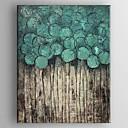 billige Abstrakte malerier-Hang malte oljemaleri Håndmalte - Abstrakt Klassisk Tradisjonell Inkluder indre ramme / Stretched Canvas