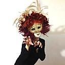 baratos Cortinas 3D-Pena Máscara Mascara de carnaval Inspirado por Veneziano Dia Das Bruxas Carnaval Mulheres