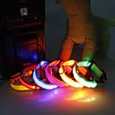 ราคาถูก ปลอกคอ สายจูง สายรัดสำหรับสุนัข-ปลอกคอ - โคมไฟ LED - ไนลอน