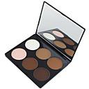 Χαμηλού Κόστους αποκρύπτων & Contour-6 Χρώματα Πούδρες Πούδρα Highlighter & Bronzer Ξηρό / Ματ Πρόσωπο Μακιγιάζ Καλλυντικό