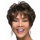 Χαμηλού Κόστους Χωρίς κάλυμμα-Συνθετικές Περούκες Φυσικό Κυματιστό Φυσικό Κυματιστό Περούκα Κοντό Σκούρο καφέ Συνθετικά μαλλιά 4 inch Γυναικεία Καφέ