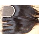 Χαμηλού Κόστους Συνθετικές περούκες χωρίς σκουφί-PANSY ύφανση μαλλιά Επεκτάσεις ανθρώπινα μαλλιών Ίσιο Κλασσικά Φυσικά μαλλιά Βραζιλιάνικη Γυναικεία Φυσικό Μαύρο