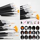 Χαμηλού Κόστους Μανικιούρ & Πεντικιούρ Εργαλεία-15pcs Ξύλο / Νάιλον / Μεταλλικό Ακρυλικό πινέλο για τα νύχια Βούρτσες νυχιών Για Νύχι Χεριού Νύχι Ποδιού Ακρυλική Βούρτσα Πρωτότυπες τέχνη νυχιών Μανικιούρ Πεντικιούρ Κλασσικό / χαριτωμένο στυλ