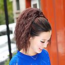 Χαμηλού Κόστους Είδη Καθαρισμού Κουζίνας-Κλασσικό Σγουρά Kinky Σγουρό Αλογορουρές Υψηλή ποιότητα Κομμάτι μαλλιών Hair Extension Σκούρο καφέ Καθημερινά
