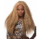 Χαμηλού Κόστους Συνθετικές περούκες χωρίς σκουφί-Συνθετικές Περούκες Σγουρά Kinky Curly Χαλαρό Κυματιστό Kinky Σγουρό Σγουρά Μέσο μέρος Περούκα Ξανθό Μακρύ Ξάνθο Ανοικτό Συνθετικά μαλλιά 20 inch Γυναικεία Μοδάτο Σχέδιο Στολές Ηρώων Ξανθό