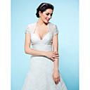 ราคาถูก ผ้าคลุมสำหรับชุดแต่งงาน-Tulle งานแต่งงาน / Party / Evening ห่อแต่งงาน กับ Boleros