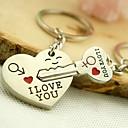 ราคาถูก พวงกุญแจ-พวงกุญแจ คู่รัก ความรัก แหวนแฟชั่น เครื่องประดับ สีเงิน สำหรับ สวมใส่ทุกวัน