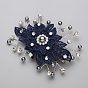Χαμηλού Κόστους Σκουλαρίκια-Απομίμηση Μαργαριταριού / Cubic Zirconia / Δαντέλα Κομμάτια μαλλιών / Λουλούδια με 1 Γάμου / Ειδική Περίσταση Headpiece / Κράμα