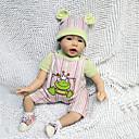 billiga Reborn-dockor-Reborn-dockor Spädbarn 22 tum Silikon Vinyl - Nyfödd levande Handgjord Barnsäkert Ogiftig Unge Flickor Leksaker Present