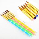 Χαμηλού Κόστους Βερνίκια & Τζελ Νυχιών-5pcs 5 χρώματα μεγέθη 2-τρόπο που βούρτσα επαγγελματική UV γέλη ακρυλικό καρφί βούρτσα ζωγραφική τέχνη κλήρωση