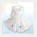 Χαμηλού Κόστους Φορέματα για κορίτσια-Παιδιά Φλοράλ Μακρυμάνικο Μακρύ Φόρεμα Λευκό