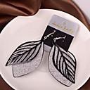 זול עגילים אופנתיים-בגדי ריקוד נשים עגילי טיפה זול עגילים תכשיטים שחור / כסף / מוזהב עבור חתונה Party יומי קזו'אל