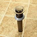 olcso Csaptelep kiegészítők-Csaptelep tartozék - Kiváló minőségű - Vintage Sárgaréz Felugró vízelvezetés túlfolyás nélkül - Befejez - Antik bronz