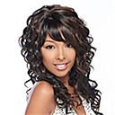 Χαμηλού Κόστους Συνθετικές περούκες χωρίς σκουφί-συνθετικά μαλλιά περούκες μόδας χρώμα μιγμάτων μακριά σγουρά γυναίκας