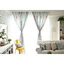 billiga Mörkläggningsgardiner-land curtains® en panel grön blomtryck gardin
