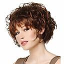 Χαμηλού Κόστους Είδη Καθαρισμού Κουζίνας-Συνθετικές Περούκες Σγουρά Σγουρά Ασύμμετρο κούρεμα Περούκα Κοντό Καφέ Συνθετικά μαλλιά Γυναικεία Στολές Ηρώων Καφέ