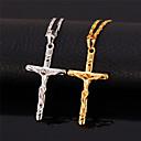 povoljno Religijski nakit-Žene Ogrlica Kereszt dame Vintage Zabava Posao Platinum Plated Pozlaćeni Legura Zlato Pink Ogrlice Jewelry Za Special Occasion Rođendan Dar