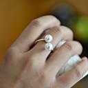 billige Engasjement-Dame Band Ring tommelfingerring Perle Gylden Perle damer Uvanlig Unikt design Bryllup Fest Smykker Justerbar