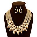 billiga Jewelry Set-Dam Smycken Set Dropp Örhängen Halsband Multi lager Tvinnad Statement damer Lyx Vintage Fest Kontor örhängen Smycken Mörklila / Skärmfärg Till Party Speciellt Tillfälle Dagligen / Dekorativa Halsband