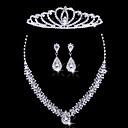 povoljno Komplet nakita-Žene Srebro Komplet nakita Naušnice Jewelry Za Vjenčanje Party Special Occasion godišnjica Rođendan Angažman / Dar