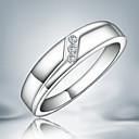 ราคาถูก แหวน-สำหรับผู้หญิง วงแหวน Cubic Zirconia สีเงิน เงินสเตอร์ลิง Cubic Zirconia เครื่องประดับชิ้นใหญ่ ง่าย แฟชั่น ปาร์ตี้ เครื่องประดับ