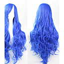 povoljno Anime kostimi-Sintetičke perike Kovrčav Stil Perika Plava Sintentička kosa Plava Perika
