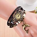 billiga Armbandsklockor-Dam Armbandsur wrap watch Quartz Läder Svart Vardaglig klocka damer Berlock - Grön Ljusblå Marinblå