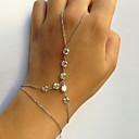billiga Modearmband-Dam Ringarmband Guldens slavar Läcker damer Unik design Mode Armband Smycken Guld / Silver Till Party Gåva Valentine Cosplay Kostymer/Dräkter