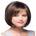 Χαμηλού Κόστους Περούκες από Ανθρώπινη Τρίχα-Φυσικά μαλλιά Περούκα Κούρεμα καρέ Ελεύθερο μέρος Με αφέλειες στυλ Βραζιλιάνικη Ίσιο Περούκα 130% Πυκνότητα μαλλιών με τα μαλλιά μωρών Λευκανθέντες κόμπους Γυναικεία Κοντό Μεσαίο Μακρύ